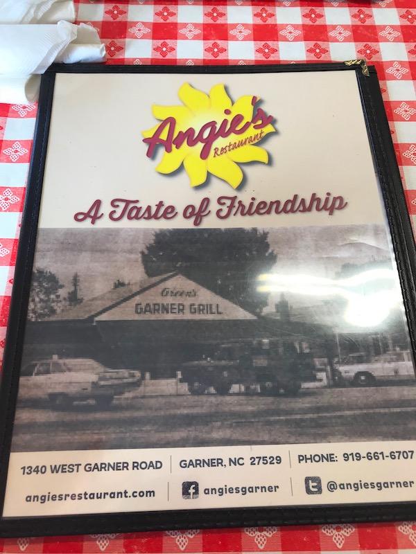 A menu from a restaurant