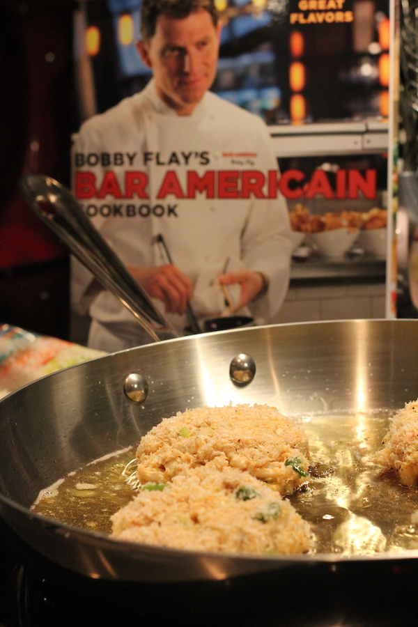 Frying Crab Cakes and Bobby Flay's Bar Americain Cookbook