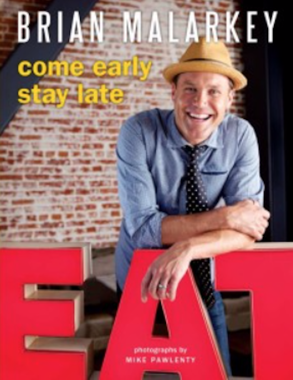 A cookbook cover with a man in a denim shirt and a straw fedora.