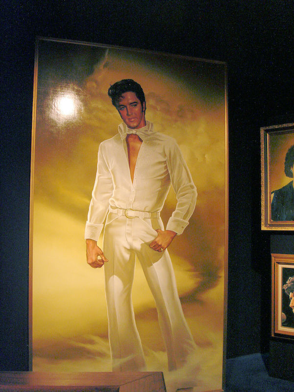 Painting of Elvis in Graceland
