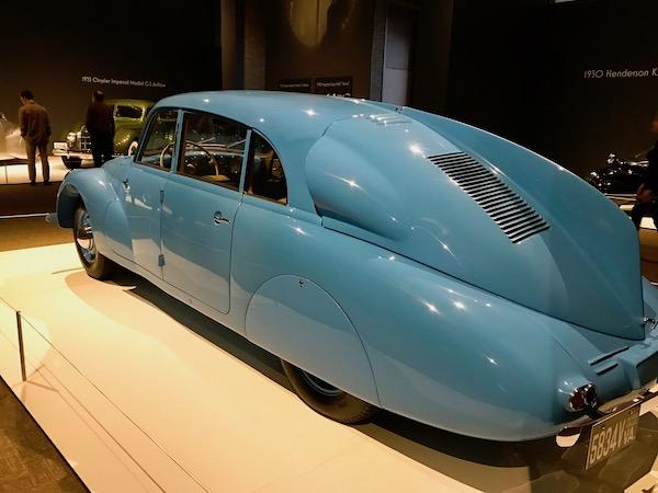 A blue 1940 Tatra T87