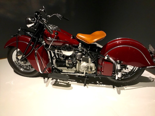 A 1941 Indian Model 441 motorcycle
