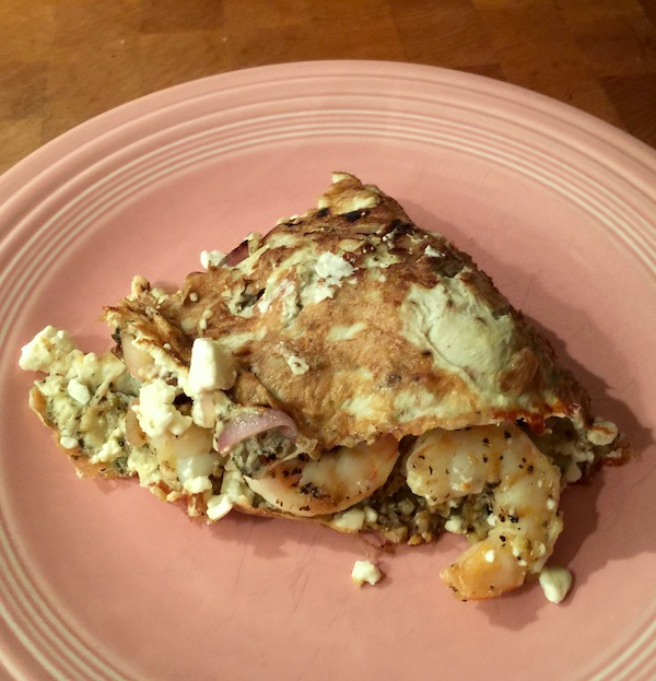Shrimp And Feta Omelet