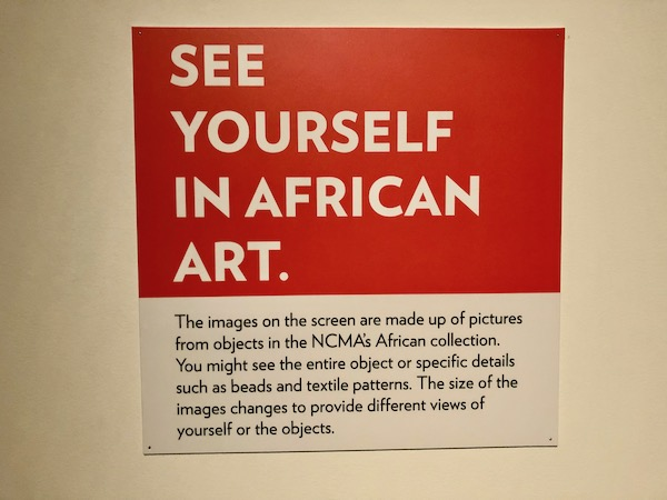 """A sign """"See Yourself in African Art"""""""