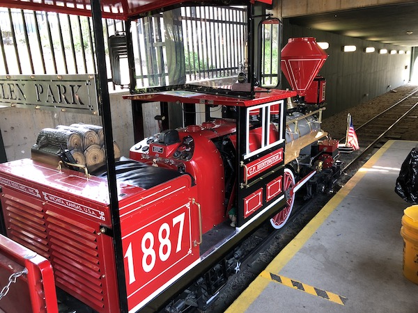 The engine is a near exact replica of a locomotive that was built in 1863 at the Danforth-Cook Locomotive works in Paterson, New Jersey.