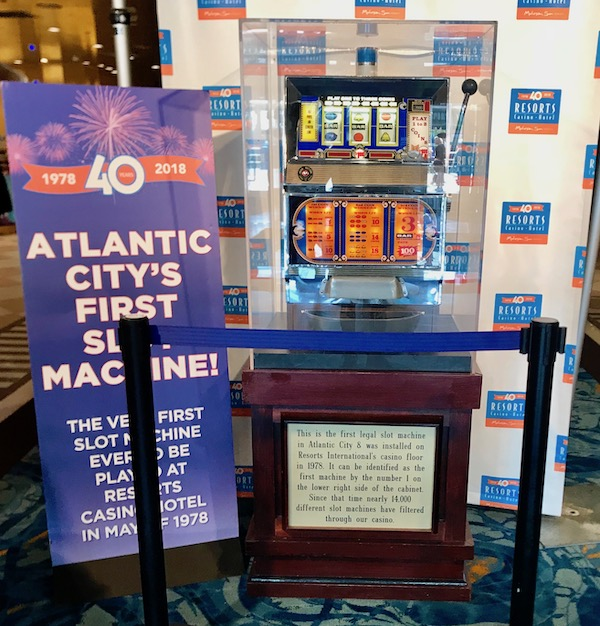 A slot machine on display in a hotel lobby is one of the Fun Things at the Jersey Shore