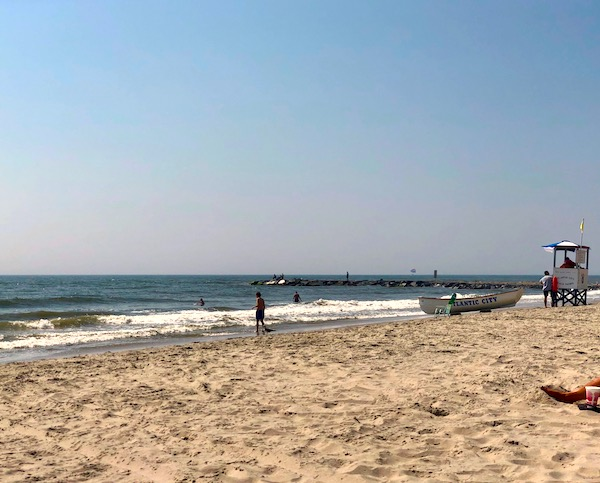 Sand and ocean which are both Fun Things at the Jersey Shore.