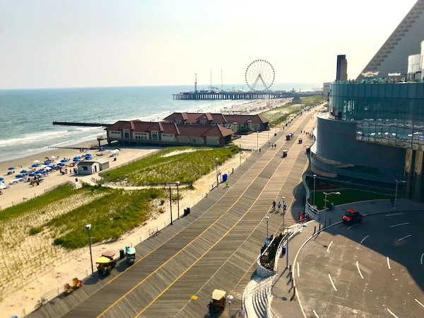 Boardwalk and beach are two Fun Things at the Jersey Shore.