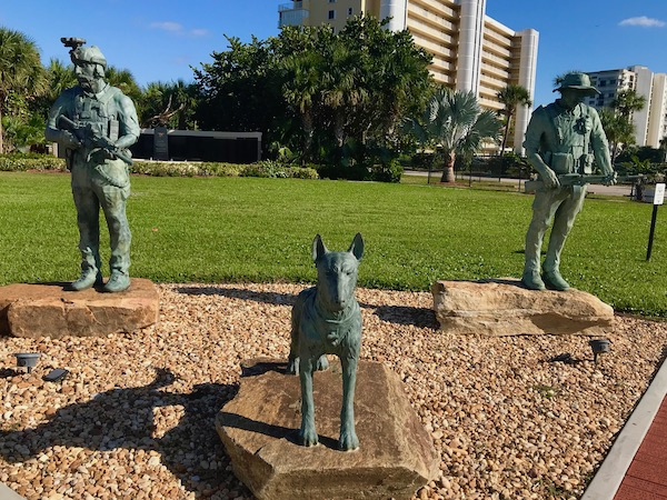 Navy Seal Museum on N. Hutchinson Island Florida Bronze sculptures in the the Memorial Garden honor Navy SEALs and their predecessors. Created by world-renowned artist Pablo Eduardo, the statues depict the evolution of Naval Special Warfare, featuring a Vietnam era Frogman, a contemporary SEAL warrior.
