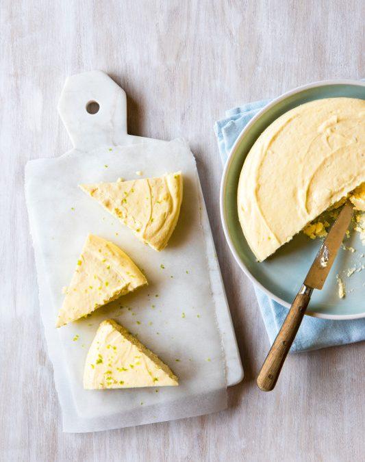 Crustless Key Lime Cheesecake