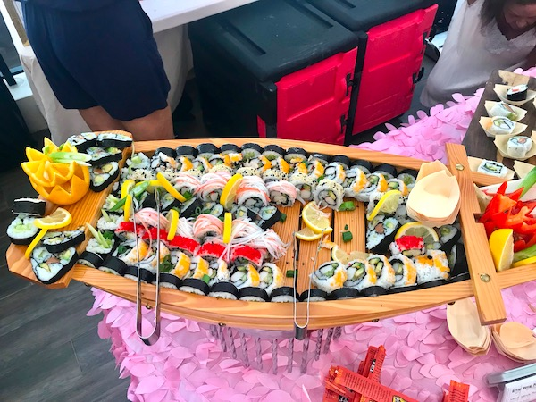 A sushi boat filled with sushi at the 2019 Flavors Wellington Food and Wine Festival