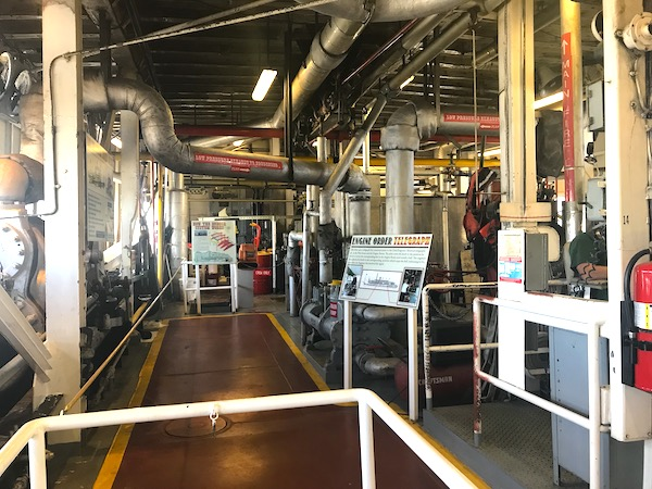 The engine room as we Cruise the Mississippi on the Steamboat Nachez.