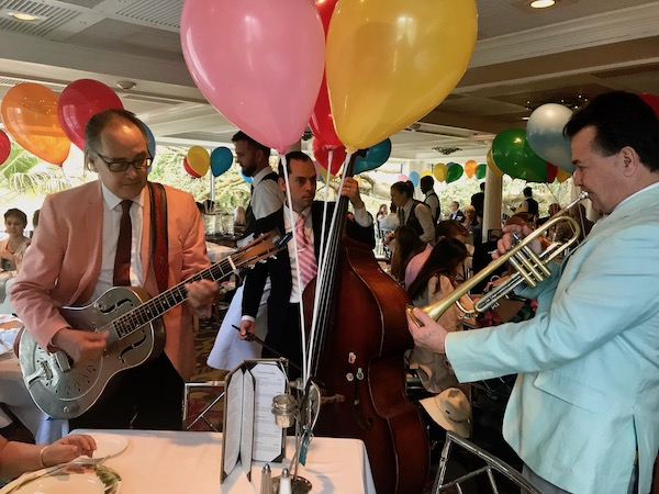 Musicians serenading us at our table during our Jazz Brunch at Commander's Palace