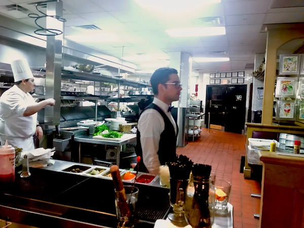 A restaurant kitchen where we had Jazz Brunch at Commander's Palace