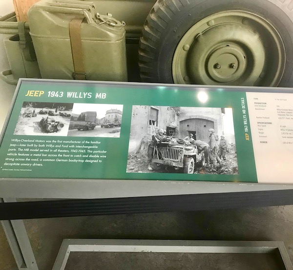 An Army Jeep on display at the National World War II Museum