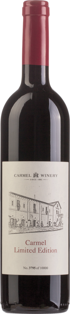 A bottle of red wine from Carmel Winery is one of the Perfect for Passover Wines.