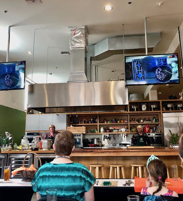 A cooking class at the Southern Food and Beverage Museum