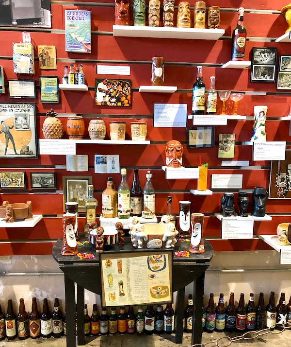 A wall of everything for the cocktail at the Southern Food and Beverage Museum